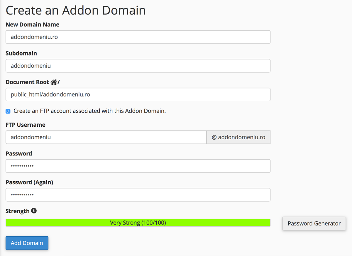 create-addon-domain